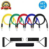 Aorkey Resistance Band Set, TB12 Workout Bands 11 Pieces with Exercise Bands, Door Anchor, Handles, Ankle Straps and Carry Bag for Resistance Tranining, Home Workouts