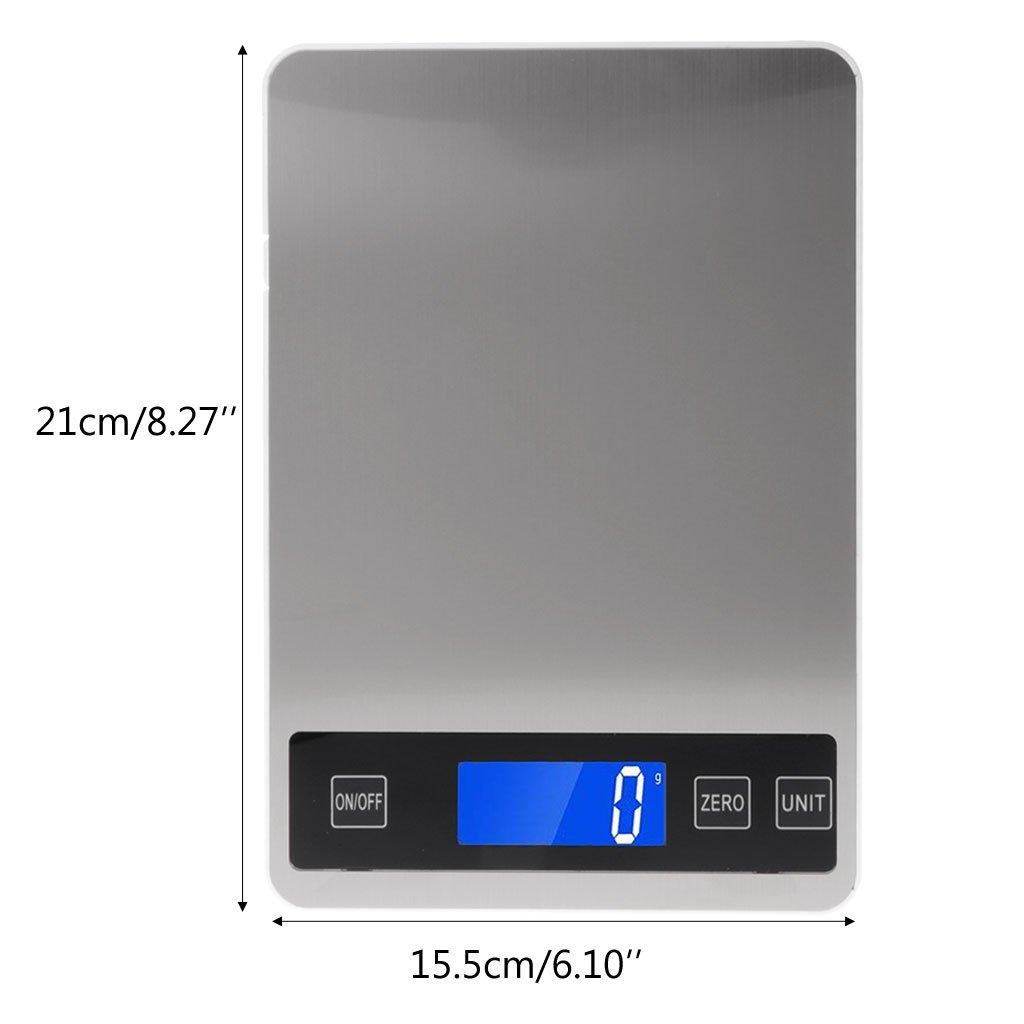 10 Kg Balance De Cuisson Balance De Cuisine Balance avec des Aliments Pesant Kg//G//LB//Oz 2 G