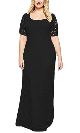 buy online d8698 fea9f Damen Vintage Abendkleider Lang Elegant Mit Spitze Große ...
