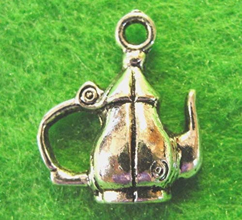 10Pcs. Tibetan Silver TEAPOT Pitcher Charms Pendants Earring Drops PR35 Crafting Key Chain Bracelet Necklace Jewelry Accessories Pendants