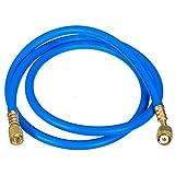 ESUMIC R410A R134A AC Refrigerant Charging Hoses 1/4'' 5ft HVAC SAE 800PSI HOSE Blue
