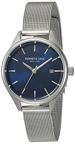 Kenneth Cole New York Silver Dial Watch - Kenneth Cole New York Women's Classic Japanese-Quartz Watch with Stainless-Steel Strap, Silver, 12 (Model: 10030841)