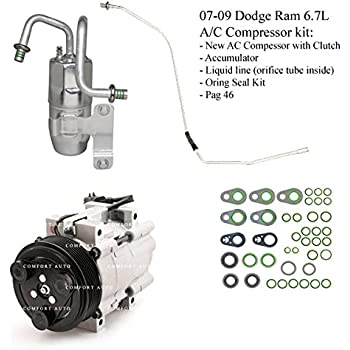 2007 2008 2009 Dodge Ram 2500 3500 6.7L Diesel New A/C AC Compressor kit 1 Year Warranty