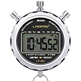 LAOPAO Stopwatch,1/100 Seconds Timing 2 Pcs Memories Daily Waterproof Electronic Chronograph Timer for Soccer Football Baseball Outdoor Sports