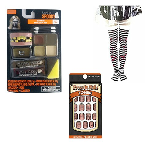 Female Zombie Makeup Kit and Costume Accessories