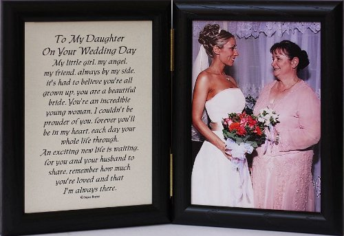ON YOUR WEDDING DAY Poem ~ Black Photo Frame ~ A Wonderful Gift ...