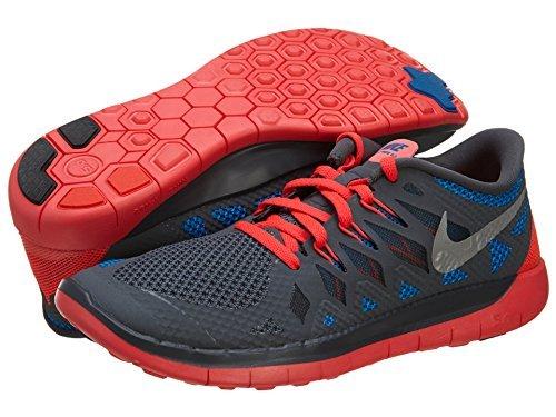 Nike Free 5.0 (GS) Boys Running Shoes 644428 002 Dark Grey 7