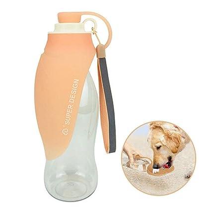 FOONEE - Botella de Agua portátil para Mascotas, de Silicona, dispensador de Botella de