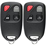 KeylessOption Keyless Entry Remote Control Car Key Fob Replacement for Mazda Miata Millenia KPU41701 (Pack of 2)