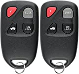 KeylessOption Keyless Entry Remote Control Car Key Fob Replacement for Mazda Miata Millenia KPU41701 (Pack of 2)