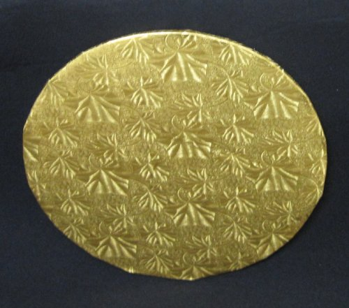 Cake Fold Under Board - Cake Fold-under Board, Round Gold, 1/2