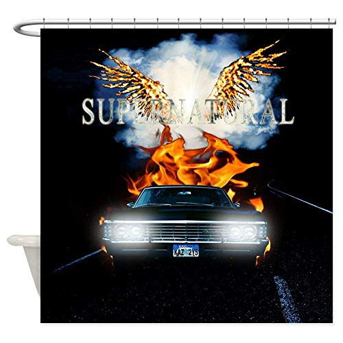 ghknjjkg Supernatural Fallen Race to Hell Queen Duvet Showe - Decorative Fabric Shower Curtain (60