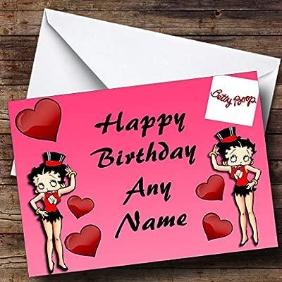 Rosa Tarjeta De Cumpleaños Betty Boop Personaliseitonline