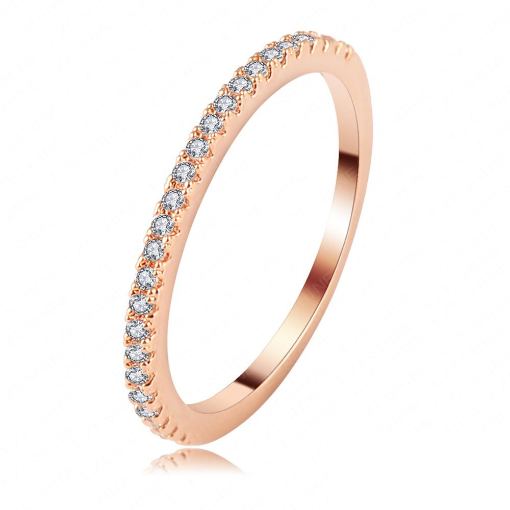 Evertrust (TM)LZESHINE Brand Women Fashion Engagement Ring Rose Gold SWA Elements Austrian Crystal Wedding Ring - CRI0117-A