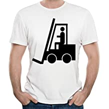 Elan Fork Lift Truck Driver For Men's T-shirts White