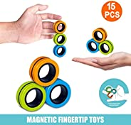 Finger Magnetic Ring, Magnet Toy, Magnetic Fingertip Toys, Decompression Magnetic Magic Ring, Magnetic Game, M