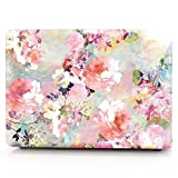 HRH Pink Watercolor Flowers Print Plastic Laptop Body Shell PC Protective Hard Case for MacBook Old Pro 13' Inch with CD-ROM Drive (A1278),Release Early 2012/2011/2010/2009/2008