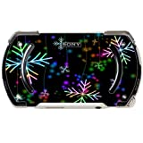 Neon Snowflakes Snowflake PSP Go Vinyl Decal Sticker Skin by Moonlight Printing
