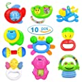 Kemuse 10 Baby Rattles Teether, Ball Shaker, Grab and Spin Rattle, Musical Toy Gift Set for Newborn Baby Infant & Gift Storage Bag by Kemuse that we recomend individually.
