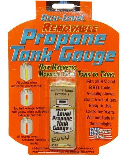 Dozenegg 0019193290501 Harold Import Hammerhead Accu Level Removable Magnetic Propane Tank Gauge, Clear ()