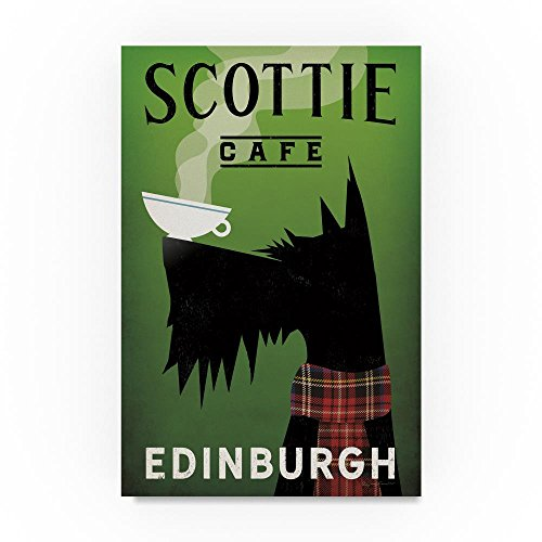 Scottie Cafe by Ryan Fowler, 16x24-Inch Canvas Wall Art