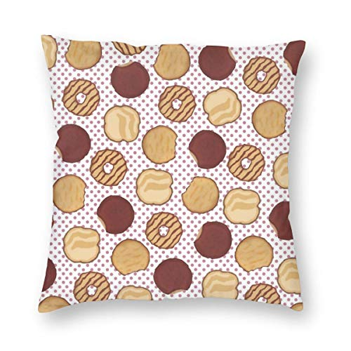 Undertale Annoying Dog Cookies Chocolate Decorative Square Throw Pillow Covers Soft Soild Pillow Slips for Sofa Bedroom Car 18 X 18 in