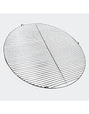 Wiltec Grillgaller i rostfritt stål runt 80 cm rostfritt för kolgrill, gasgrill, svängbar grill