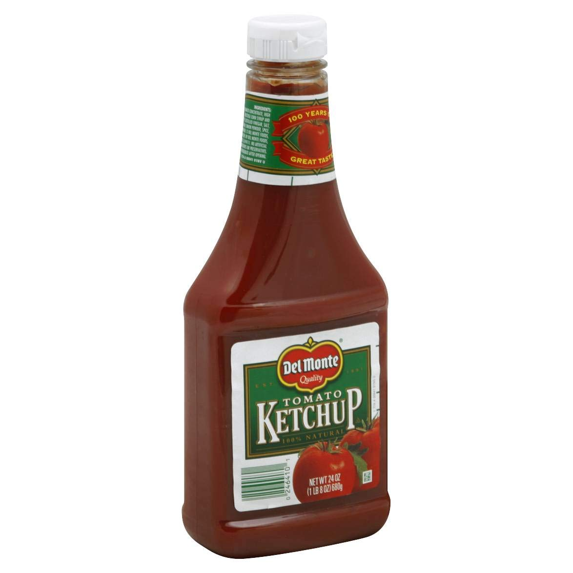 Del Monte Squeeze Bottle Ketchup 24 oz (Pack of 12)