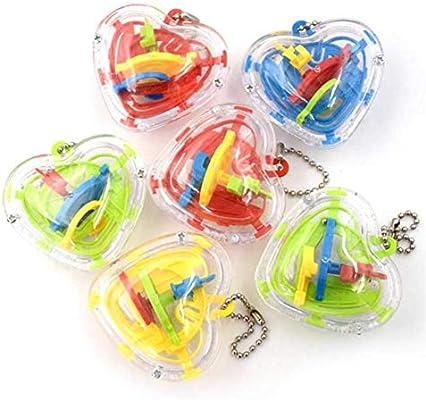 Amazon.com: 4 pcs 3d Mini laberinto pelota de juguete con ...