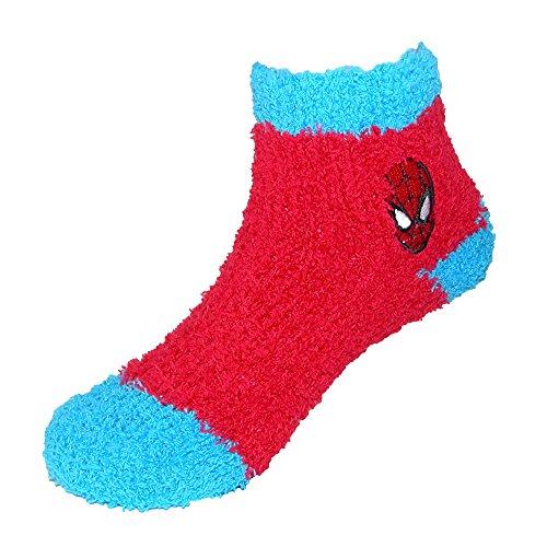 Marvel Toddler Superhero Spiderman Slipper Socks (3 Pair Pack), 18-24 Months