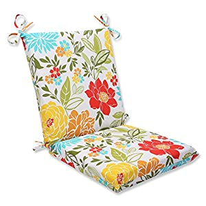 Pillow Perfect Outdoor Spring Bling Squared Corners Chair Cushion, Multicolored