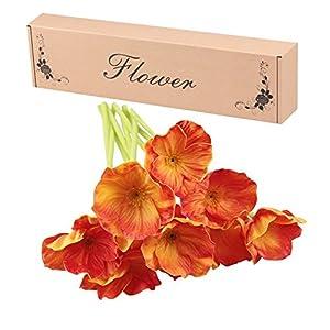 Artificial Flowers, Meiwo 10 Pcs Fake Poppies Flowers for Wedding Bouquets / Home Decor / Party / Graves Arrangement 3