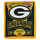 """NFL Green Bay Packers Marque Printed Fleece Throw, 50"""" x 60"""", Green Bay Packers, 50 x 60"""""""