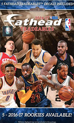 NBA 2016 17 Fathead Tradeables 5 Pack product image