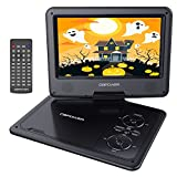 """DBPOWER 9.5"""" Portable DVD Player Swivel Screen, 5-Hour Built-in Rechargeable Battery, Support CD/DVD/SD Card/USB Car Charger Power Adaptor (Black)"""