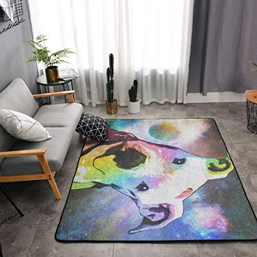 (YOUNG H0ME Pit Bull Rainbow Series Pop Art Kitchen Rugs, Bedroom Livingroom Sitting-Room Mat, Floor Pad Rugs Standing Mat, Kids Children Play Mat Bath Mat, Throw Rugs Runner Exercise Mat)