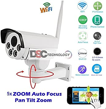 Wireless 1080P HD Outdoor PTZ 15X ZOOM WIFI IP Security Camera Onvif Bullet CCTV