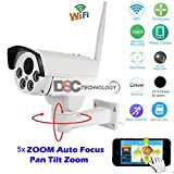 Cheap ONVIF Full HD 2.0MP 1080P Wifi IP Wireless Security Cameras Outdoor Waterproof Cctv Pan Tilt Zoom PTZ Camera With Built-in Micro SD Card Slot Day Night Vision Mobile phone Remote