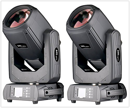 JTL 10R 260W Beam Moving Head Light, 14 Gobos and 14 Colors Changing for Disco KTV Club Party (2 Pack with Flight Case)
