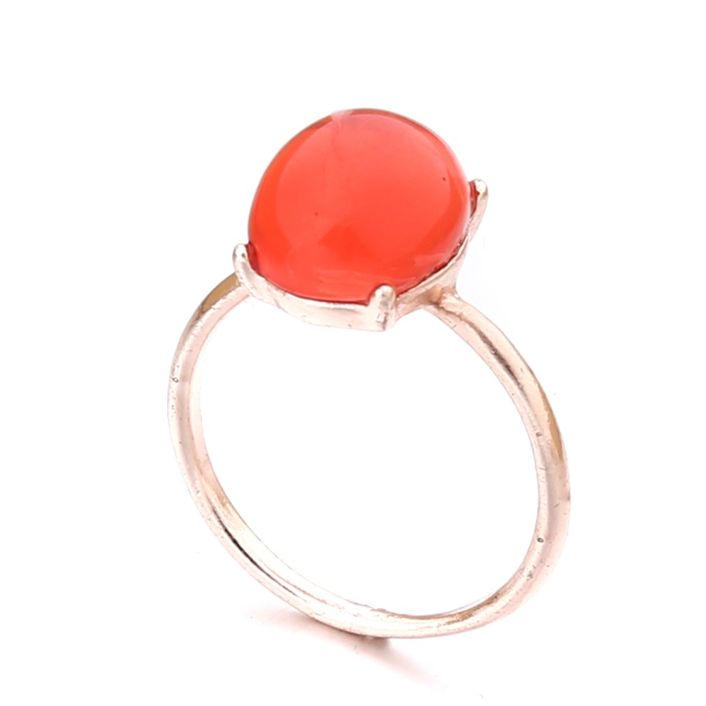 Dolland Ruby Crystal Stacked Midi Ring Set Rose Gold Plated Wedding Cocktail Ring For Women,8#
