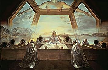 El sacramento de la en la última cena Salvador Dalí surrealismo religiosa cristiana impresión Póster 81,3 x 61: Amazon.es: Hogar