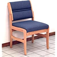 Wooden Mallet Valley Armless Guest Leg Chair, Standard, Medium Oak, Cabernet Burgundy