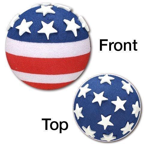 Tenna Tops Quantity 2 pcs Pack American USA Patriotic Flag Car Antenna Topper - Antenna Ball - Rear View Mirror Dangler - Auto ()