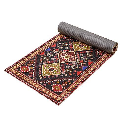 Yoga Mat Premium Print Non Slip ¼ inch Extra Thick for Men & Women – Ananda All Purpose Exercise Mat for Yoga, Pilates…
