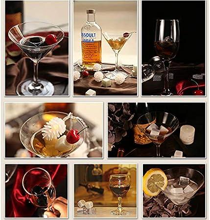 Kaishengyuan Whisky Stones Set, Juego de 9 Piedras Whisky - Cubitos de Hielo Reutilizables, Regalo para Hombres, Regalos de Dia Del Padre, Cumpleaños y Navidad