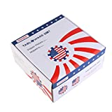 PBPBOX 4th of July Party 50 Pk Plates and Napkins with American Flag Patriotic Design for Independence Day