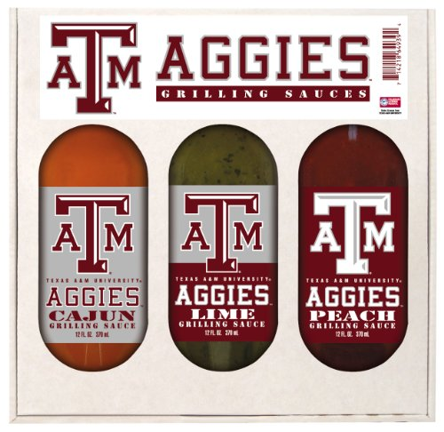 Texas A & M Aggies Grilling Gift Set 3-12 oz (Cajun, Lime and Peach)