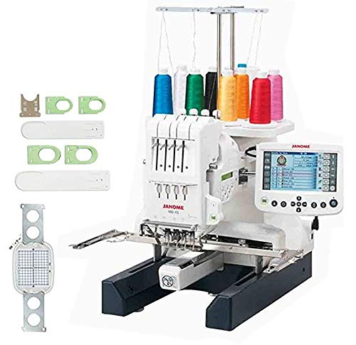 - Janome MB-4S Bonus Embroidery Sewing Machine Kit With Extra M2 Hoop & A Sock Hoop Kit That Includes 2 large hoops, 2 small hoops, 2 sliders (for the S and L hoops) and 1 hoop holder