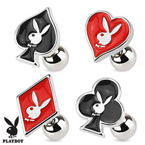 Playboy Card Suit Symbols Bunny 316L Surgical Steel