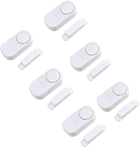 Door Window Alarm, Home Security Wireless Magnetic Sensor Burglar Anti-Theft Alarm (6 pcs)